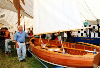 A Nottage dinghy on display with its owner Maurice Powell | Sue Murray ARPS
