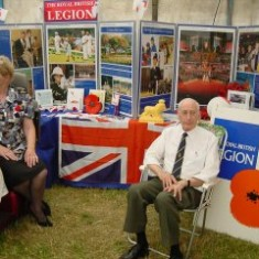 Daphne Meyers and the British Legion County Development Officer at their stand. | Photo by Peter Hill