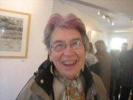 Jean Harding with a purple streak in her hair