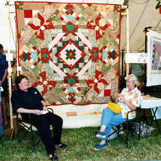 Jane Brooks and one the members of the Quay Quilters group | Sue Murray ARPS