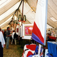 Wivenhoe Sailing Club had a stand in the Wivenhoe tent | Sue Murray ARPS