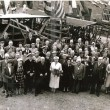 A ship launch at Wivenhoe Shipyard in 1943