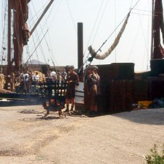 Dock used for a film set for