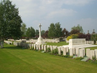 Bethune Town Cemetery in France where George Bartlett is buried. | Photograph from the Commonwealth War Graves Commission
