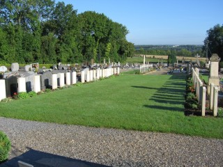 Boves East Communal Cemetery at the Somme where Sgt Horace Pitt is buried. | From the CWGC web site