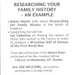 WHG Meeting - 14th October 2015 with Di Naylor about researching her family history