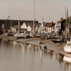 Wivenhoe  Quay from Cooks Shipyard jetty. Guy Harding's Yard on the right, Wivenhoe Dock in the backgound. | Photo Mike Downes