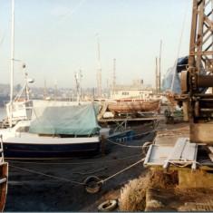 Guy Hardings Boat Yard Quay 1980's | Photo Mike Downes