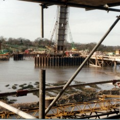 The Colne Barrier under construction from the new Sailing Club | Mike Downes