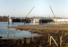 Construction of the Colne Barrier 1989-94