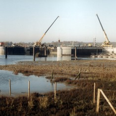 The Colne Barrier under construction from the east. | Mike Downes