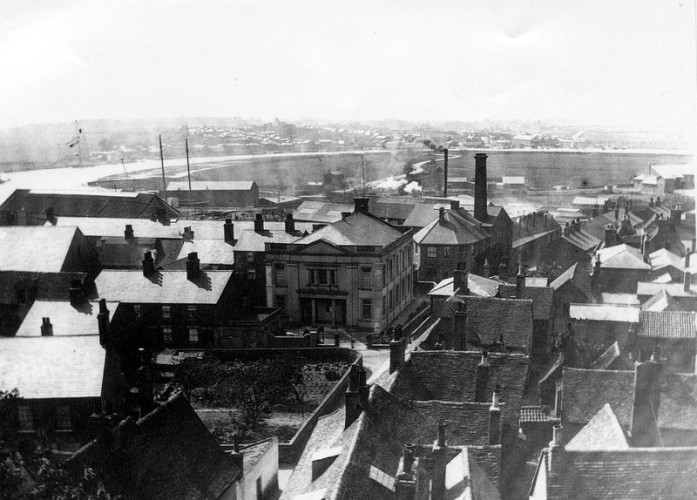 From Wivenhoe church tower towards Rowhedge. | Photo Wivenhoes Memories Collection
