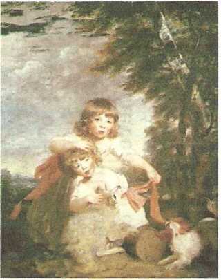 The Brummell Boys painted by Joshua Reynolds in 1782 and exhibited at the Royal Academy in 1783 | Historic England Archive J910532