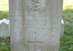 Engineer Sub-Lieutenant H. Alexander LAWS (d. 19 October 1918)