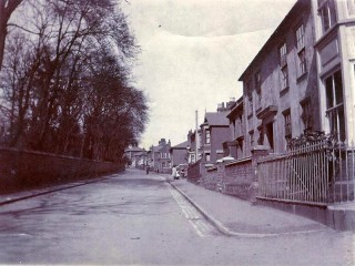 High St from junction with Queens Road showing the White House on the right   Photo Wivenhoe Memories Collection