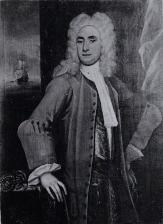 Black and white print of Matthew Martin's portrait 1712  | By courtesy of Essex Record Office