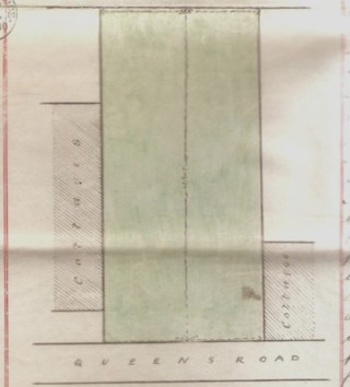 Deed for 10 Queens Road (1856-1881) | Plan included in 1881 deed