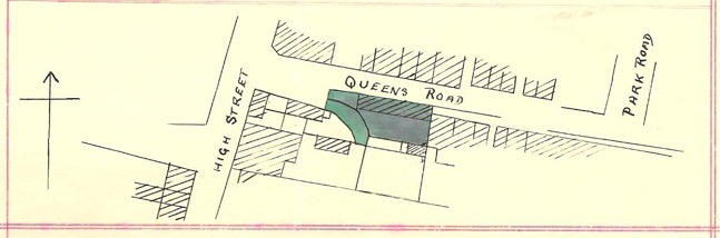 Deed for 4, 6, and 8 Queens Road (1856-1951) | Plan in Accompanying Conveyance of 9 July 1951