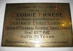 164966 Sapper George Ernest VARROW (d. 18 February 1917)