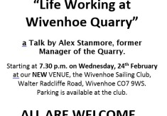 About the Wivenhoe Quarry - talk by Alex Stanmore