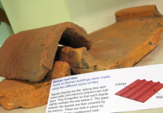 A Roman Tile preserved in the Church Roof