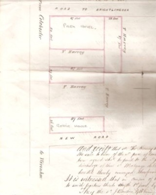 Four plots at the Park Road/ Brightlingsea Road corner | From the original 1862 deed