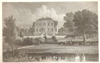 Barber's 1835 print of Wivenhoe Park, showing Wivenhoe House as it was later to be known | ERO I/Mp 411/1/2 by courtesy of Essex Record Office