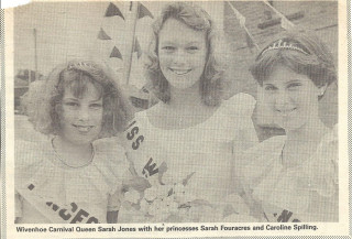 Carnival Queen Sarah Jones with her two princesses Sarah Fouracres and Caroline Spilling | Photograph: Essex County Standard