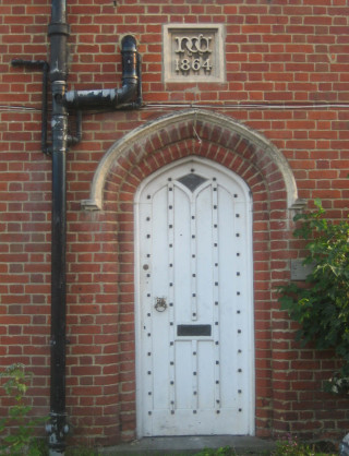 The attractive front to door to the Gatehouse.  | Photo by Peter Hill (taken in 2006)