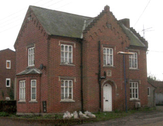 The former gatehouse building which stood near to the entrance of the Wivenhoe Hall estate    Photo by Peter Hill (taken in 2006)
