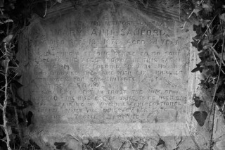 Headstone for Mary Ann Sanford who died in September 1873 | Frances Belsham