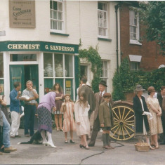 A crowd scene with several local people recruited as 'extras' for the TV series | Photo: Peter Hill