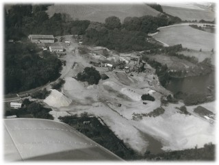 Aerial view of the Quarry in 1973     | Photo loaned by Alex Stanmore