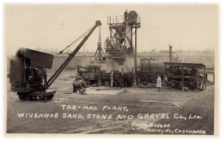 The Wivenhoe Sand, Stone and Gravel Co. Ltd moved into the production of tarmac in the 1930s | Picture reproduced from a postcard
