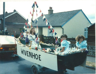 Sarah Jones Wivenhoe Carnival Queen and Princesses 1989