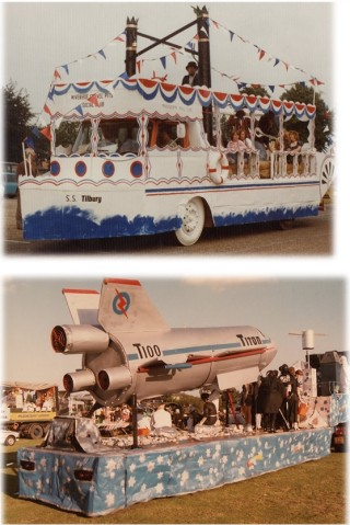 The Wivenhoe Sand & Gravel Company float 'Mississippi' which won 1st prize every local Carnival in which it entered.  The Company often entered floats in the Colchester Carnival and won prizes  | photographs taken by Alex Stanmore