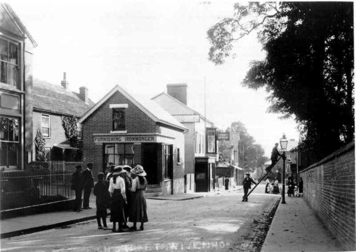 The Ironmongery Shop at the Corner of Queens Road and the High Street circa 1905 | Wivenhoe Memories Collection
