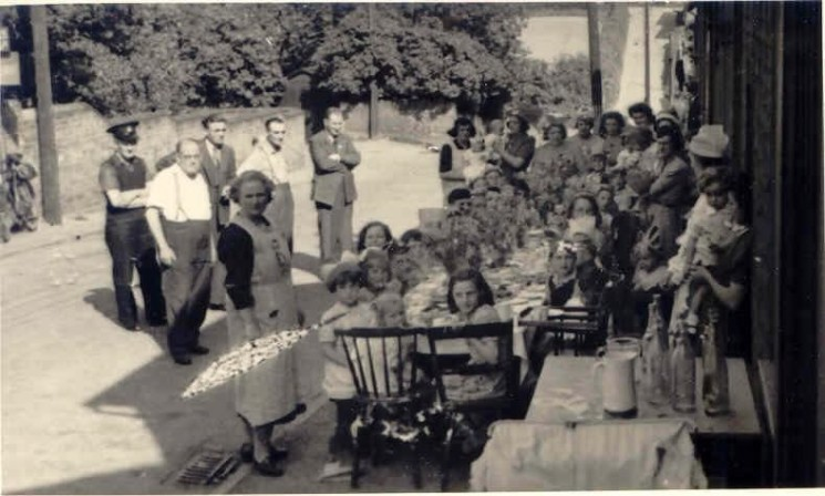 End of War Party on Queens Road | Wivenhoe Memories Collection