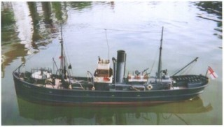 A model of the 'William Fall' a steam trawler built at Wivenhoe | Photo: Peter Hill