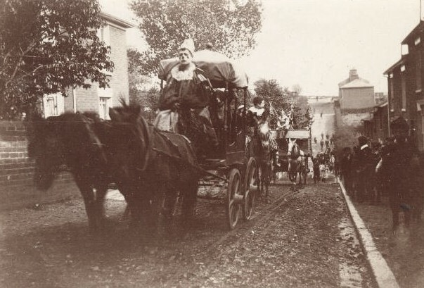 Circus Procession Coming up Queens Road Circa 1910 | Wivenhoe Memories Collection