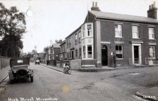 Post Office on the Corner of the High Street and Queens Road taken in the Early Twentieth Century   Wivenhoe Memories Collection