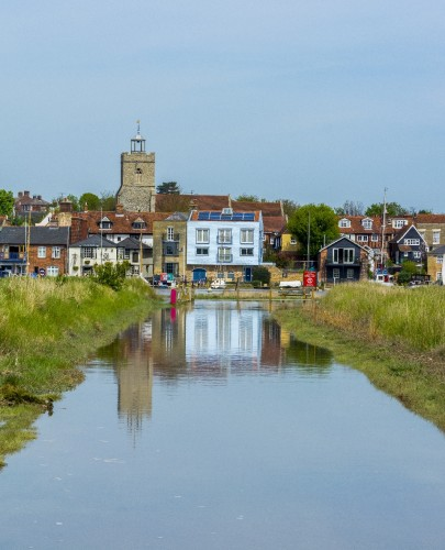 High tide at Wivenhoe today 7th May 2016