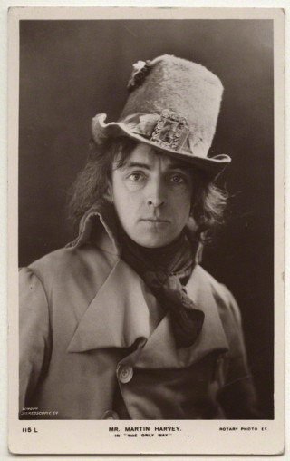 Sir John Martin-Harvey as Sidney Carton in 'The Only Way' London Stereoscopic & Photographic Company, published by  Rotary Photographic Co Ltd, bromide postcard print, 1899 | National Portrait Gallery (NPG x 160511)