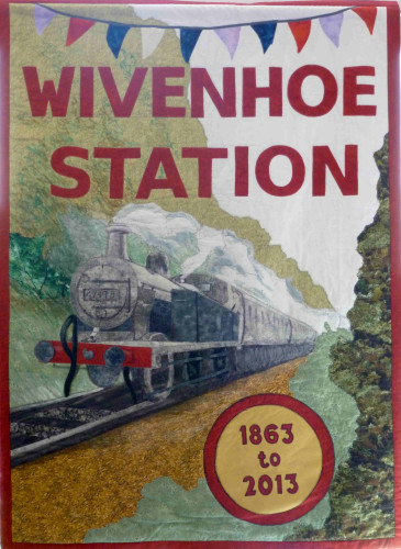 The poster made to promote Wivenhoe Station's 150 years