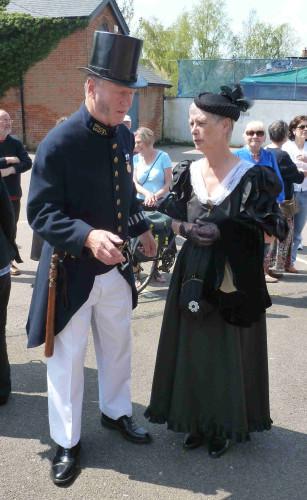 Cllr Robert Needham and Audrey his partner