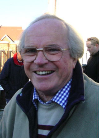 Don Smith who lived in Ernest Road, worked in the shipyard office and gave talks about the maritime history of Wivenhoe    Photo by Peter Hill