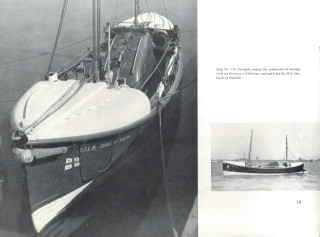 A wooden lifeboat, the Guide of Dunkirk, at 35 foot long, was a fine example of the quality of work undertaken in building and repairing all sorts of vessels.