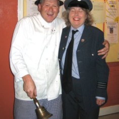 Toni Stinson with David Henley who supplied chicken and chips for everyone at the Dance | Photo by Peter Hill