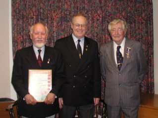 From L to R: Robin Calvert, David Swann and Roland Wheeler  | Wivenhoe Encyclopedia