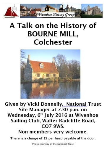 Wivenhoe History Group - Talk about Bourne Mill